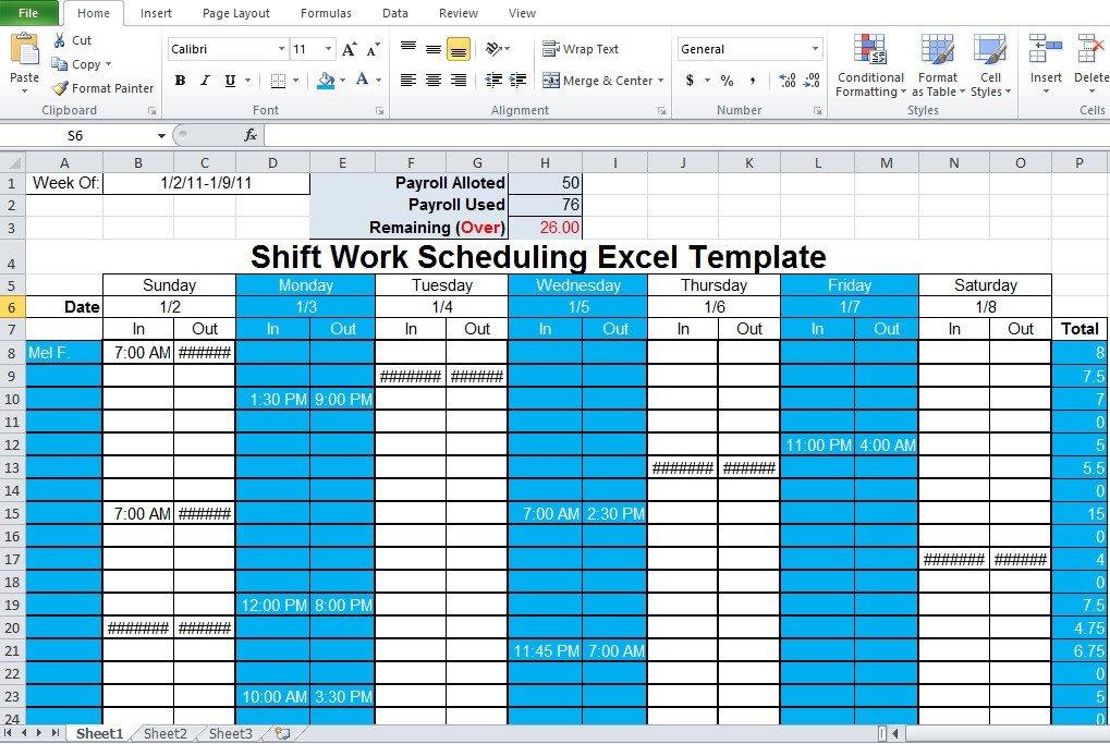 Excel Employee Schedule Template Employee Shift Schedule Generator Excel Template Excel Tmp