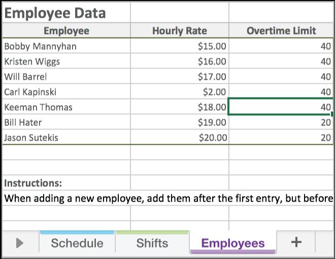 Excel Employee Schedule Template Free Excel Employee Scheduling Template