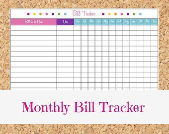 Excel Monthly Bill Template 29 Of Monthly Bill organizer Template