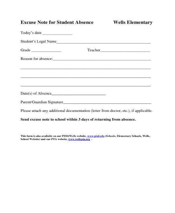 11 School Excuse Note Templates PDF