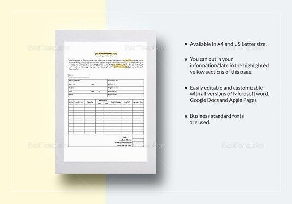 Expense Report Template Google Docs 31 Expense Report Templates Pdf Doc
