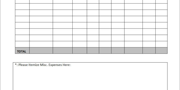 Expense Report Template Google Docs Detailed Expense Report Template Spreadsheet Templates for