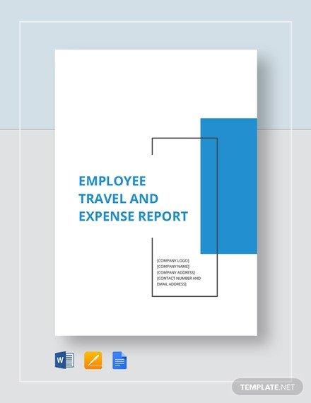 Expense Report Template Google Docs Employee Expense Report Template 9 Free Excel Pdf
