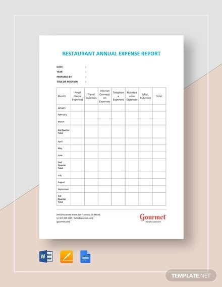 Expense Report Template Google Docs Expense Report 20 Free Word Excel Pdf Apple Pages