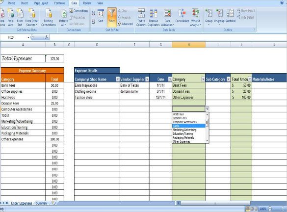 Expense Tracker Excel Template Expense Tracking Template 18 Free Word Excel Pdf