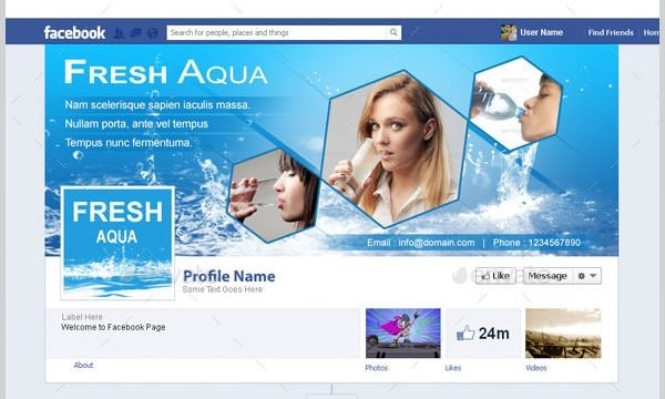 Facebook Cover Page Template 21 Business Page Templates