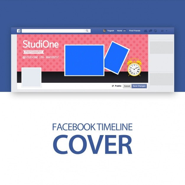 Facebook Cover Template Psd Cover Template Psd File