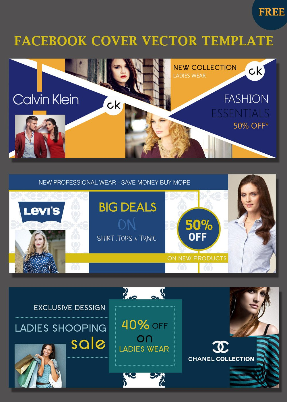 Facebook Cover Template Psd Covers Psd Templates