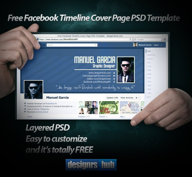 Facebook Cover Template Psd Download Page Templates Psd • Designskew
