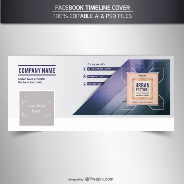 Facebook Cover Template Psd Timeline Cover Vector Vector