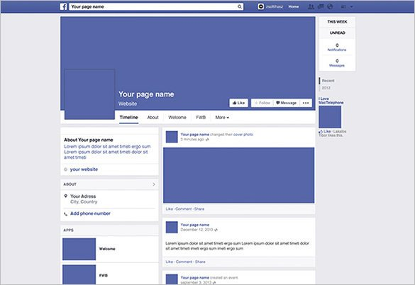 Facebook Profile Page Template Template – 49 Free Word Pdf Psd Ppt format