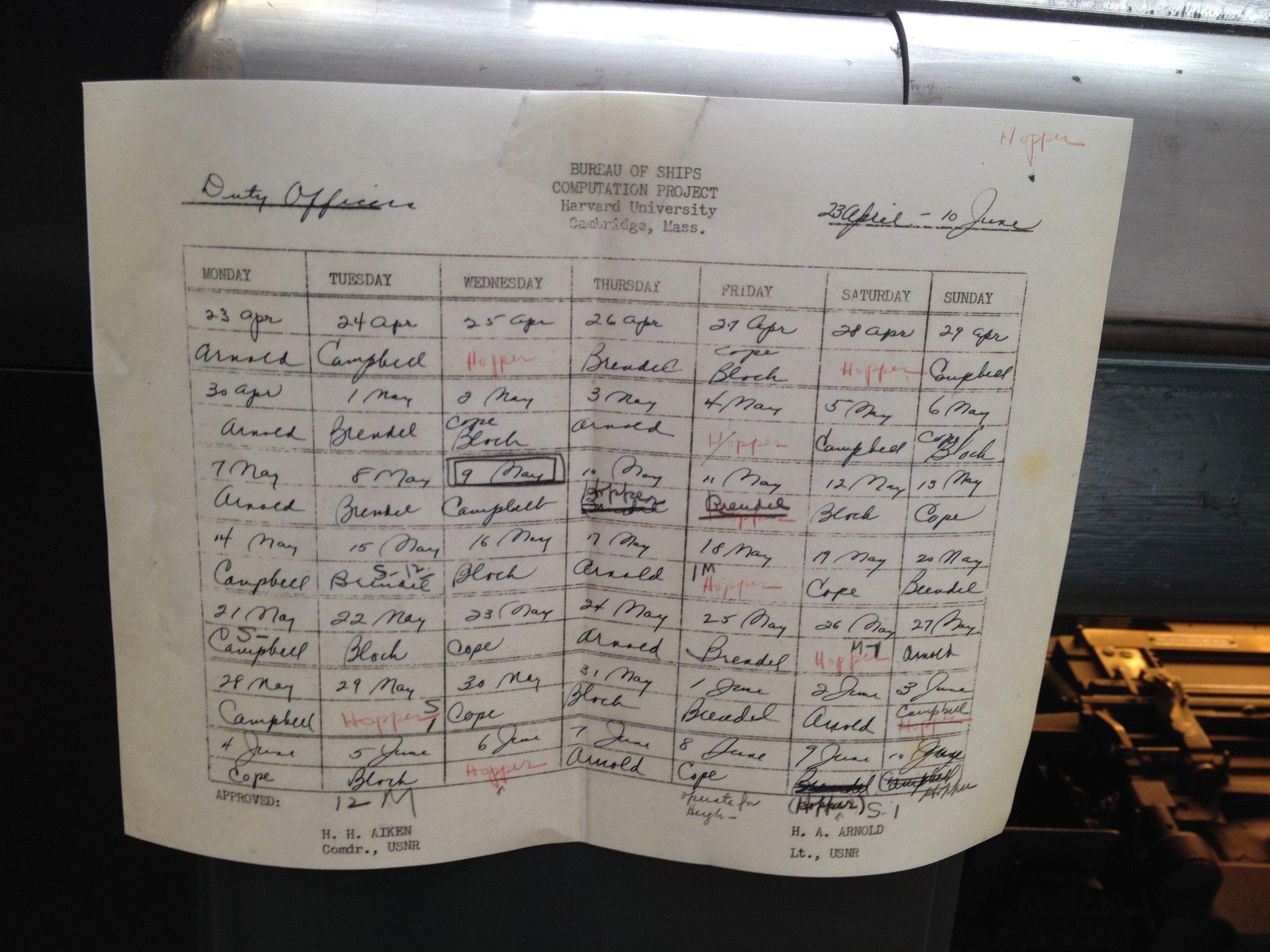 Fake Aa Signature Sheet File Harvard Mark I Sign Upr Wikimedia Mons