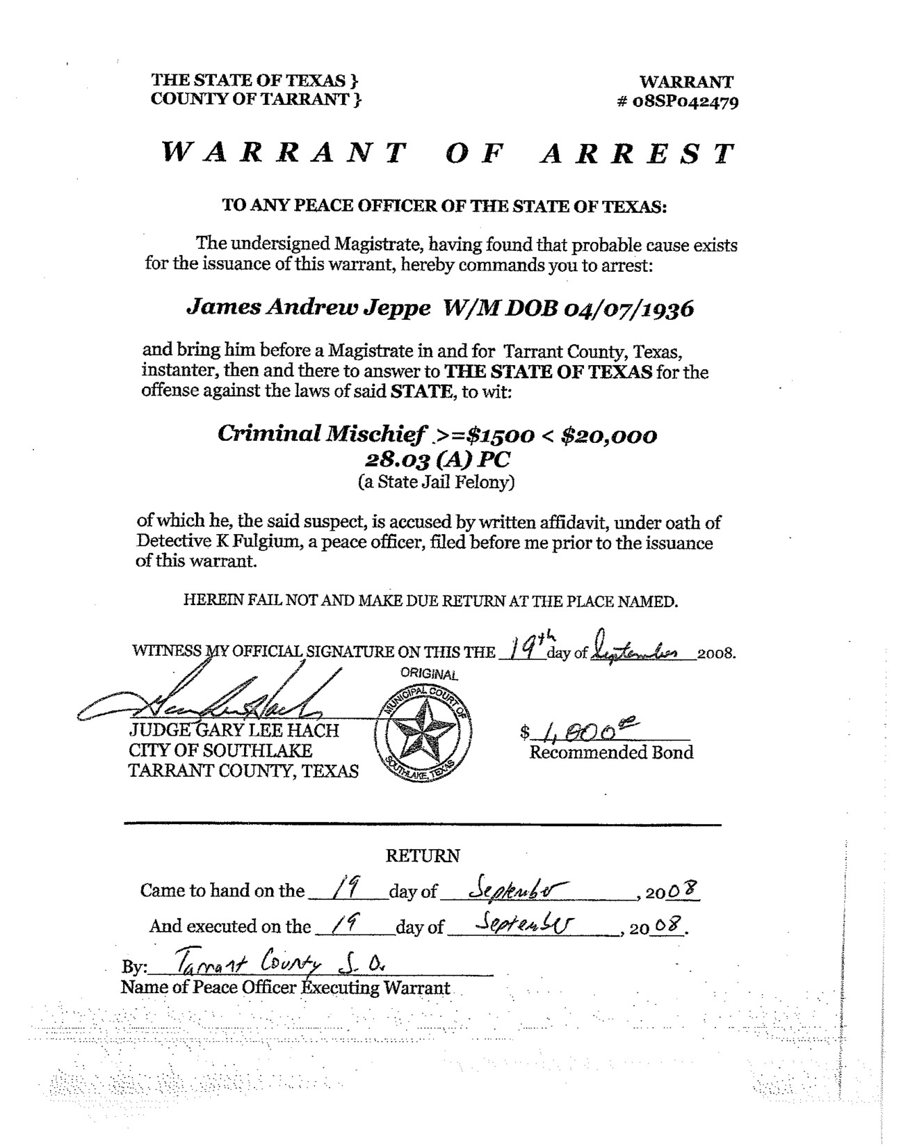Fake Arrest Warrant Template 25 Of Arrest Warrant Template Utah