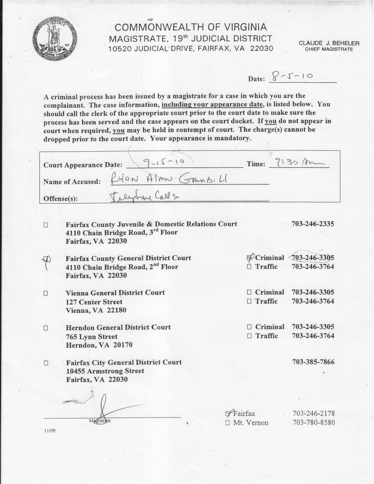 Fake Arrest Warrant Template 29 Of Virginia Search Warrant Template