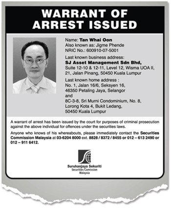 Corporate Governance in Malaysia Warrant of arrest for