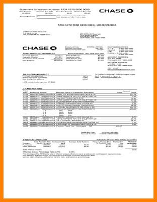 Fake Chase Bank Statement Template 9 Fake Bank Statement