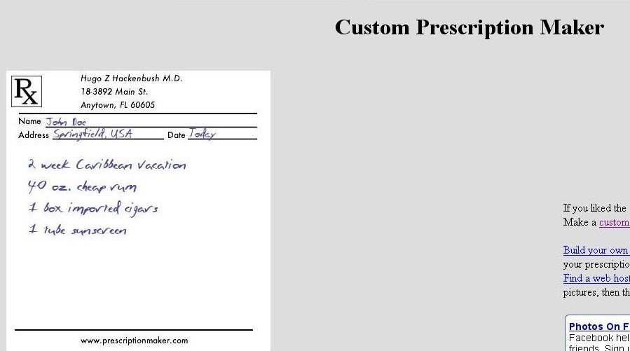 Fake Prescription Label Generator List Of Free Line Image Editor and Effects