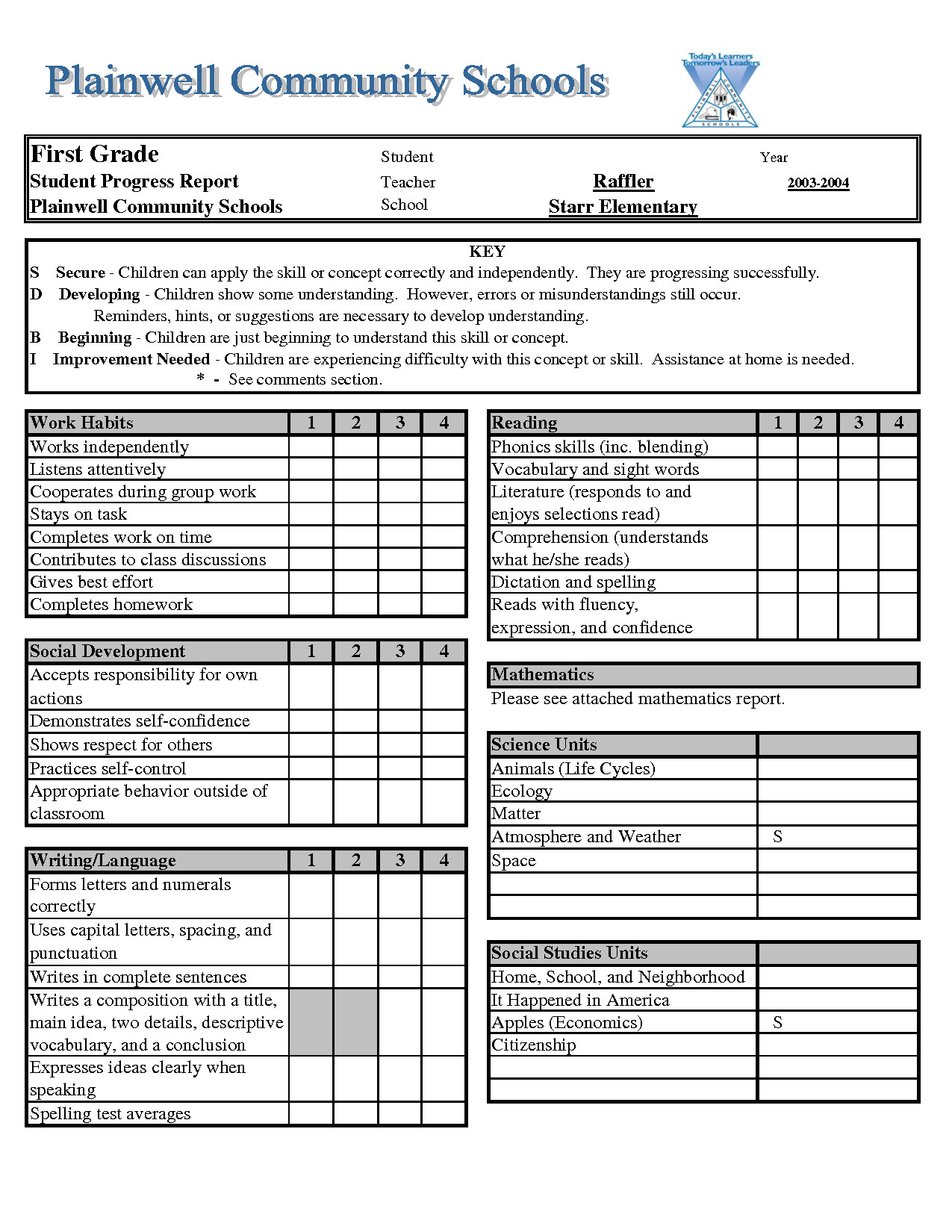 Fake Report Card Template Report Card Template Excel Xls Download Legal Documents
