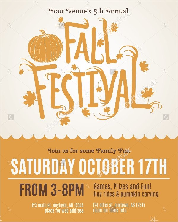 Fall Festival Flyer Template 25 Fall Flyer Templates Word Ai Psd Eps Vector