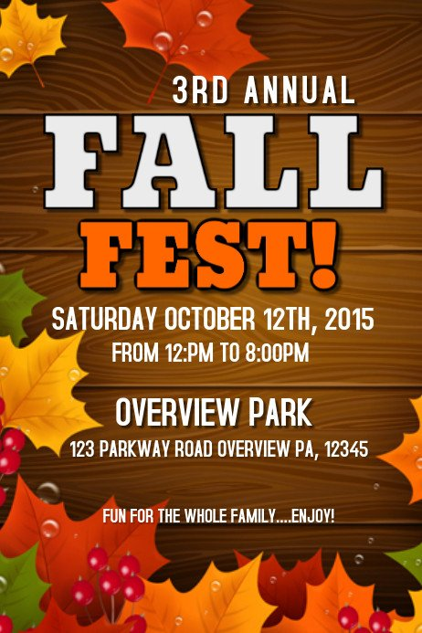 Fall Festival Flyer Template Fall Fest Template