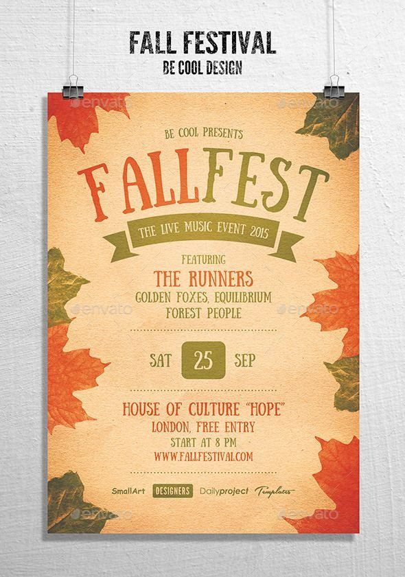Fall Festival Flyer Template Fall Festival Flyer Poster