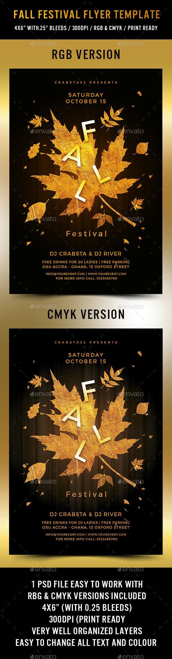 Fall Festival Flyer Template Fall Festival Flyer Template by Crabsta52