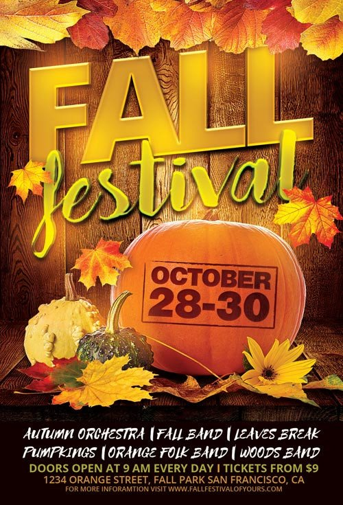 Fall Festival Flyer Template Fall Festival Flyer Template for Shop