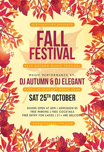 Fall Festival Flyer Template Free Psd Flyer Templates for Shop by Elegantflyer
