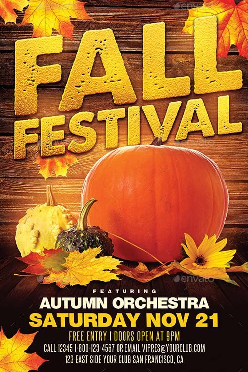 Fall Festival Flyer Templates Best Of Autumn Flyer Templates Free and Premium Flyer