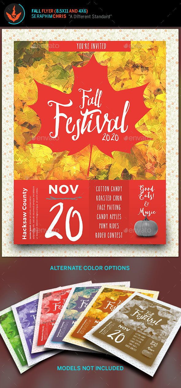 Fall Festival Flyer Templates Fall Festival Flyer Template by Seraphimchris