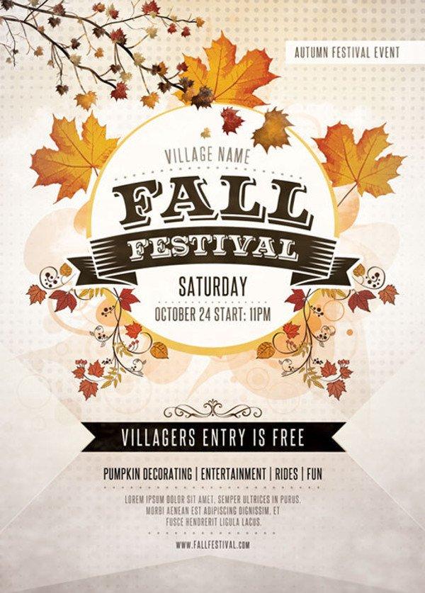 Fall Festival Flyers Template 36 Elegant Festival Flyer Design Templates Ai Word