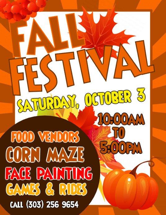 Fall Festival Flyers Template Copy Of Fall Festival Flyer