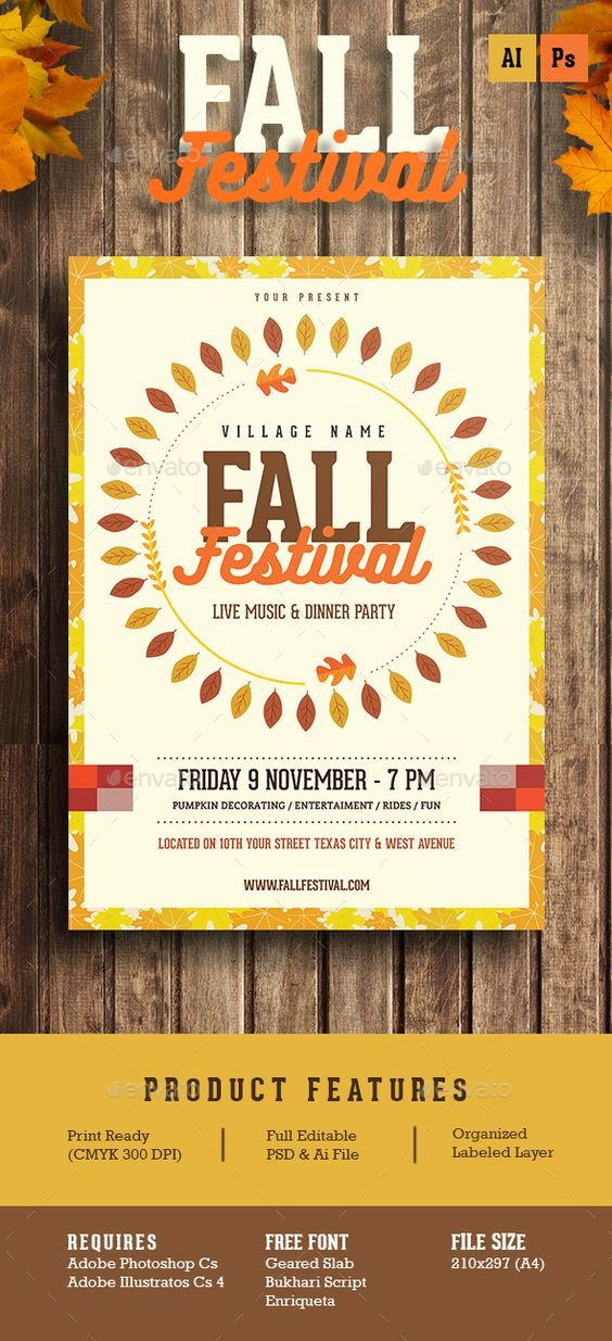 Fall Festival Flyers Template Fall Festival Flyer