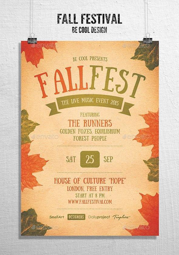 Fall Festival Flyers Template Fall Festival Flyer Poster