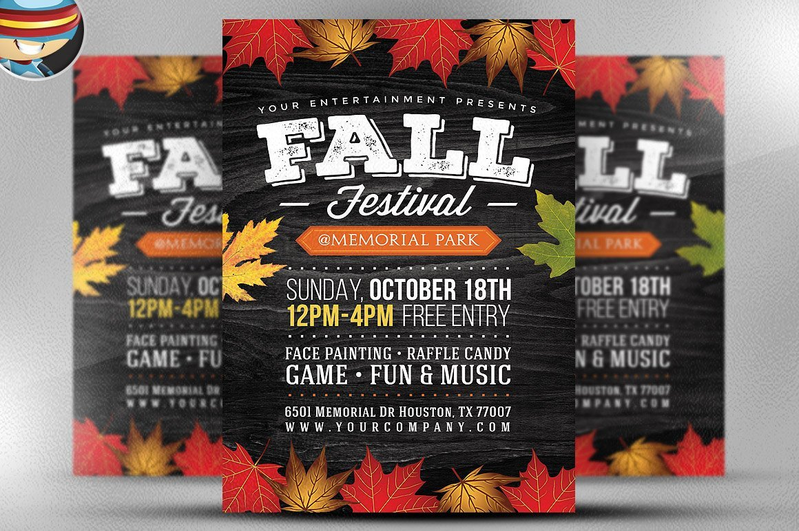 Fall Festival Flyers Template Fall Festival Flyer Template 2 Flyer Templates