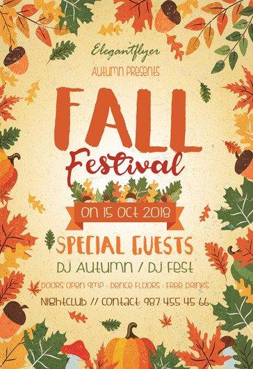 Fall Festival Flyers Template Fall Festival – Free Flyer Psd Template – by Elegantflyer
