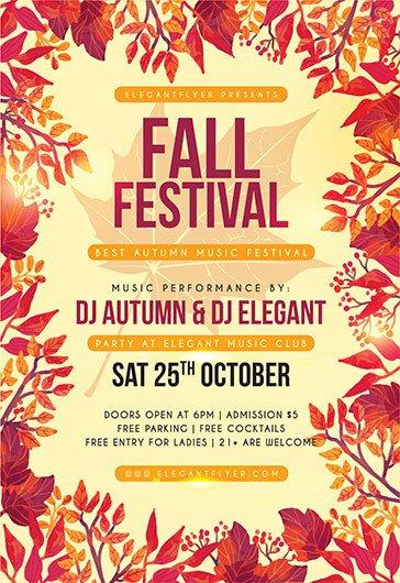 Fall Festival Flyers Template Free Psd Flyer Templates for Shop by Elegantflyer
