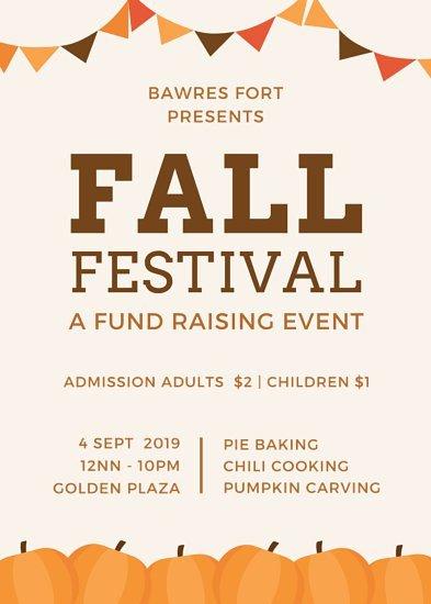 Fall Festival Flyers Template Lemonade Fundraiser Flyer Templates by Canva