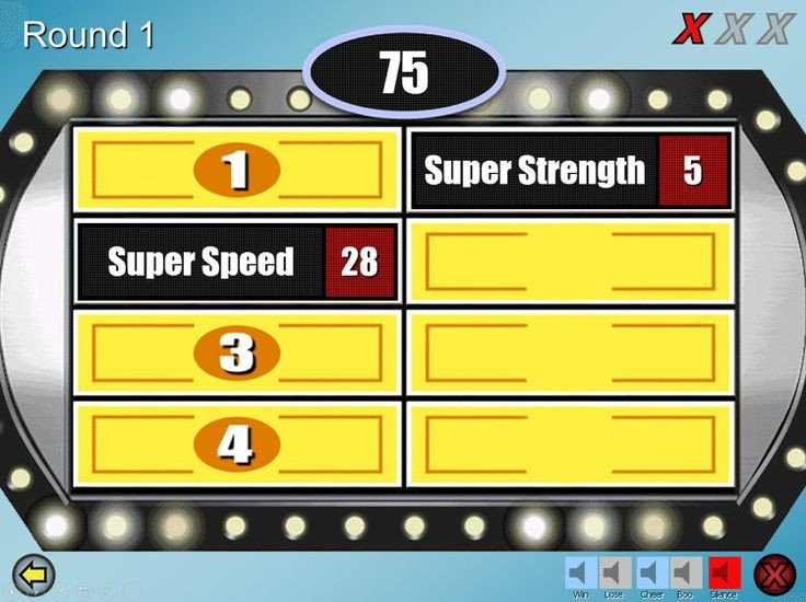Family Feud Powerpoint Template Best 25 Family Feud Game Ideas On Pinterest
