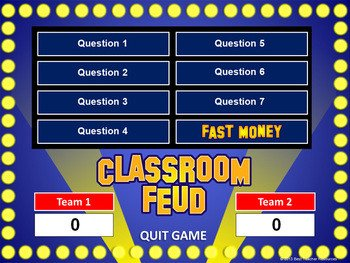 Family Feud Powerpoint Template Classroom Feud Powerpoint T by Best Teacher Resources