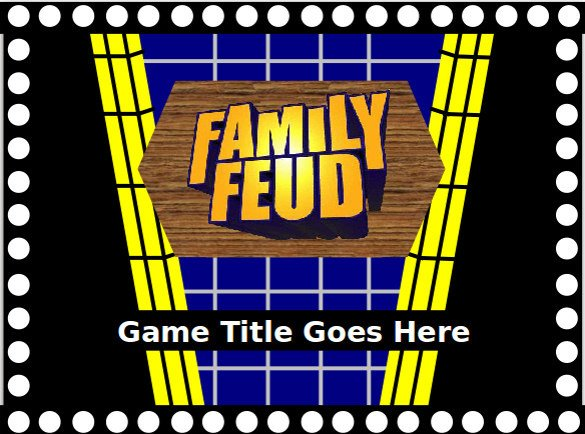 Family Feud Powerpoint Template Family Feud Game Powerpoint Template