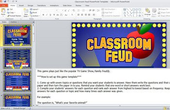 Family Feud Powerpoint Template Family Feud Powerpoint Template Classroom Game