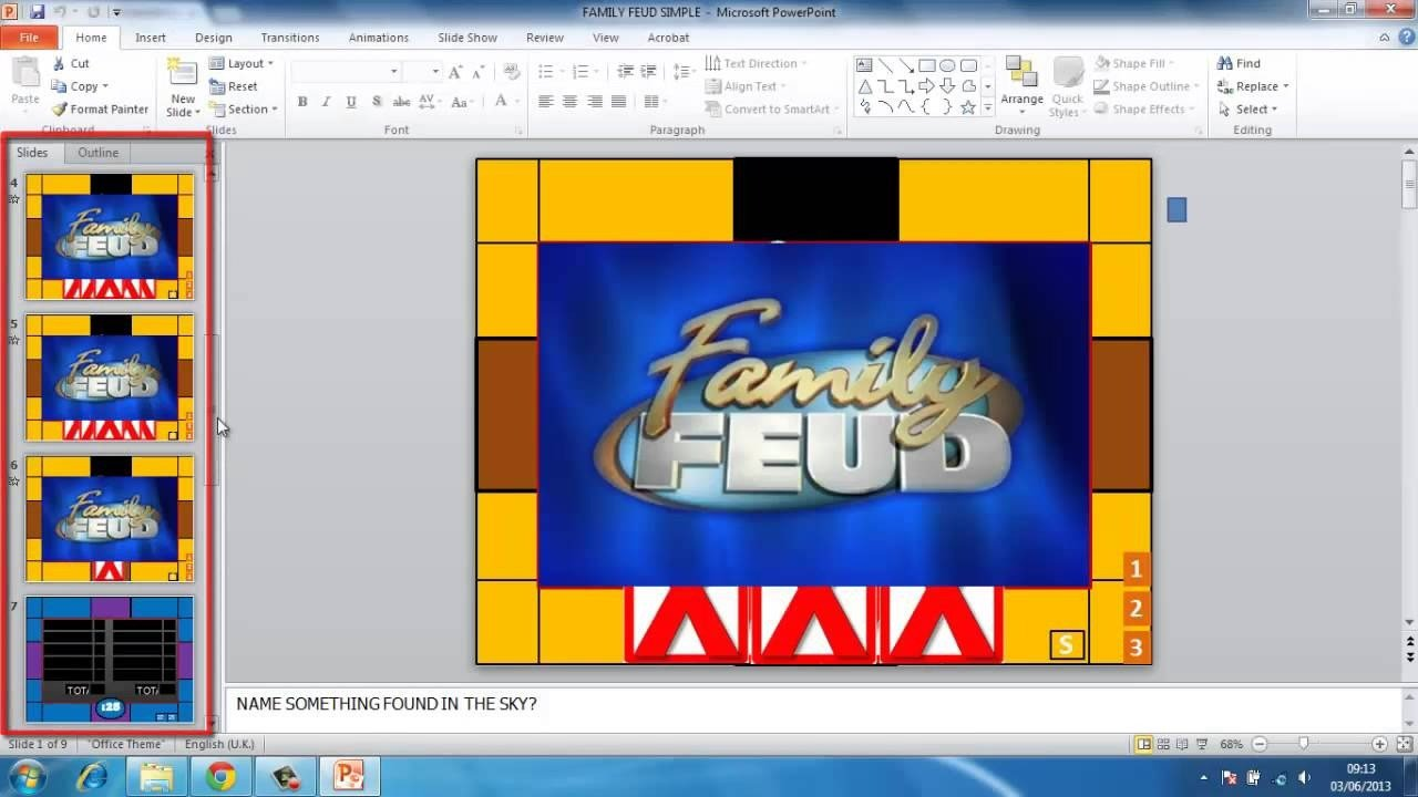 Family Feud Powerpoint Template Family Feud Powerpoint Template Free
