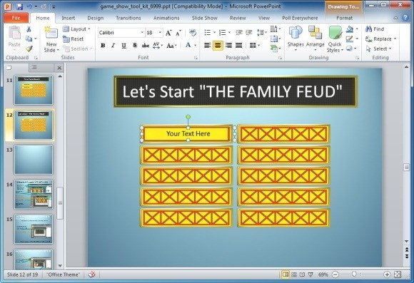 Family Feud Powerpoint Template Family Feud Powerpoint Template