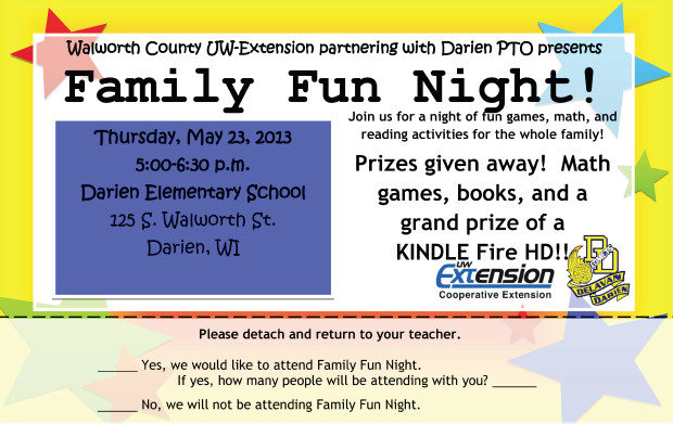 Family Math Night Flyers Darien Family Fun Night Planned