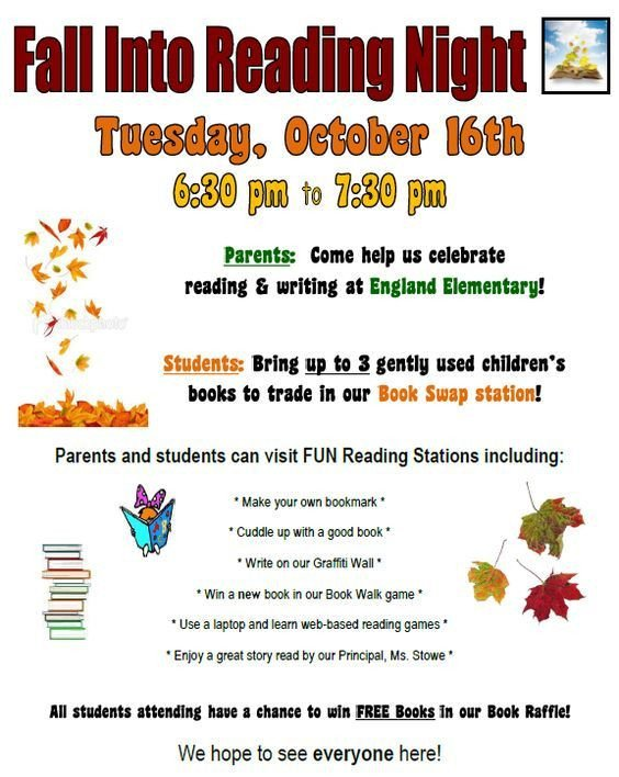 Family Math Night Flyers Family Literacy Night Flyer Google Search