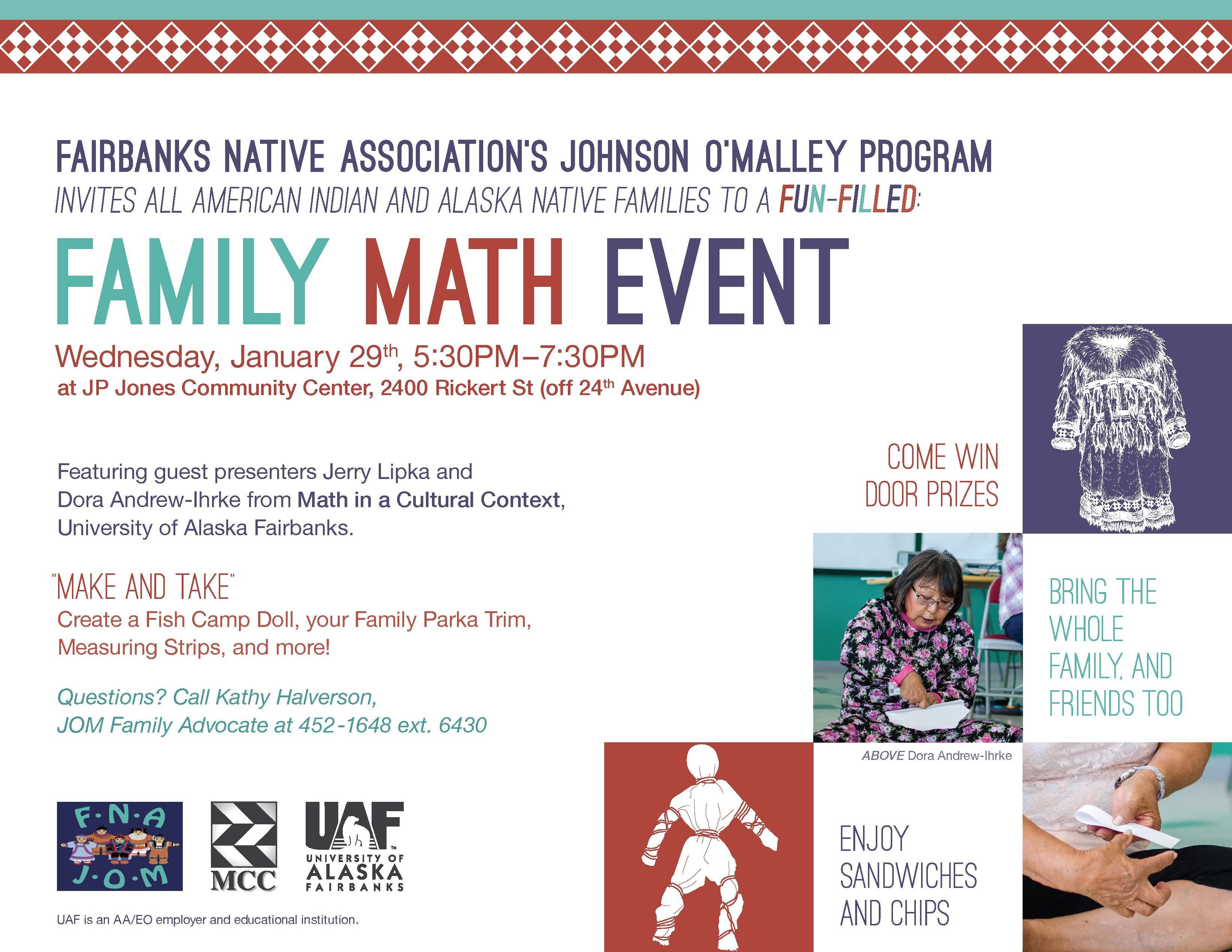 Family Math Night Flyers Native Culture