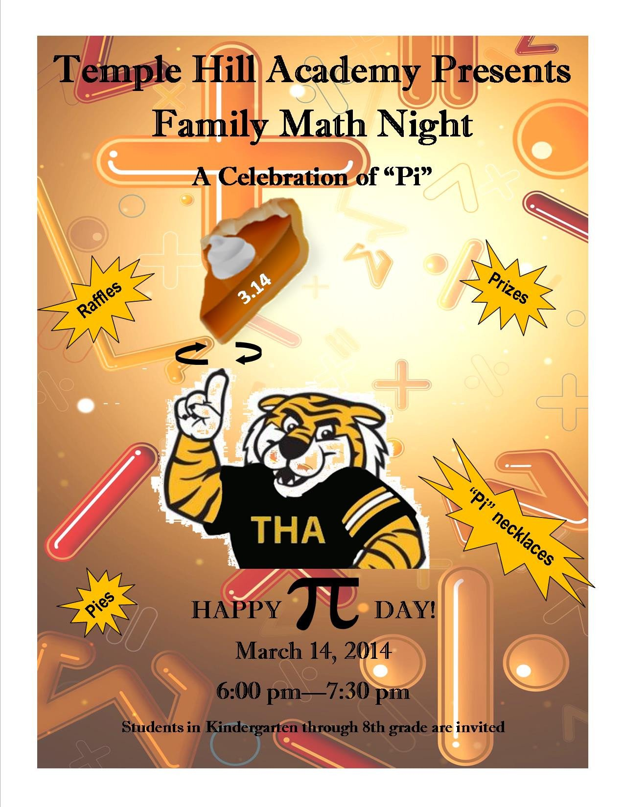 Family Math Night Flyers Pi