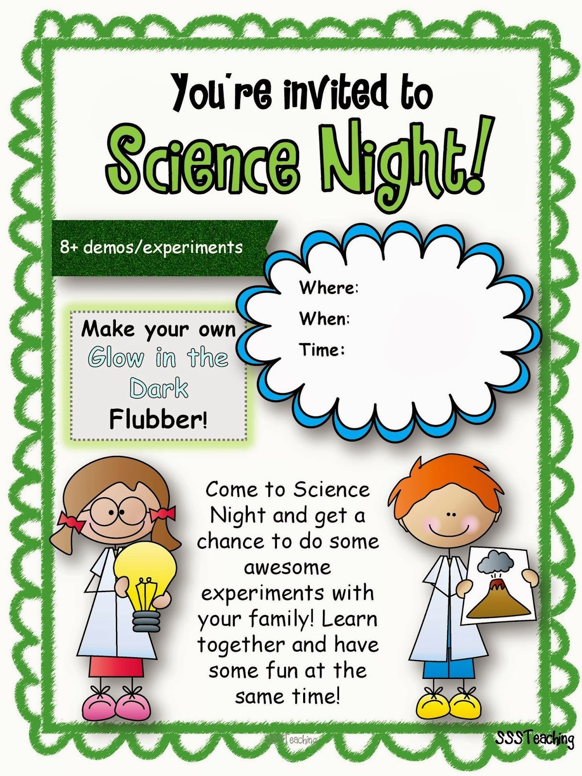 Family Math Night Flyers Ultimate Family Science Night Sssteaching
