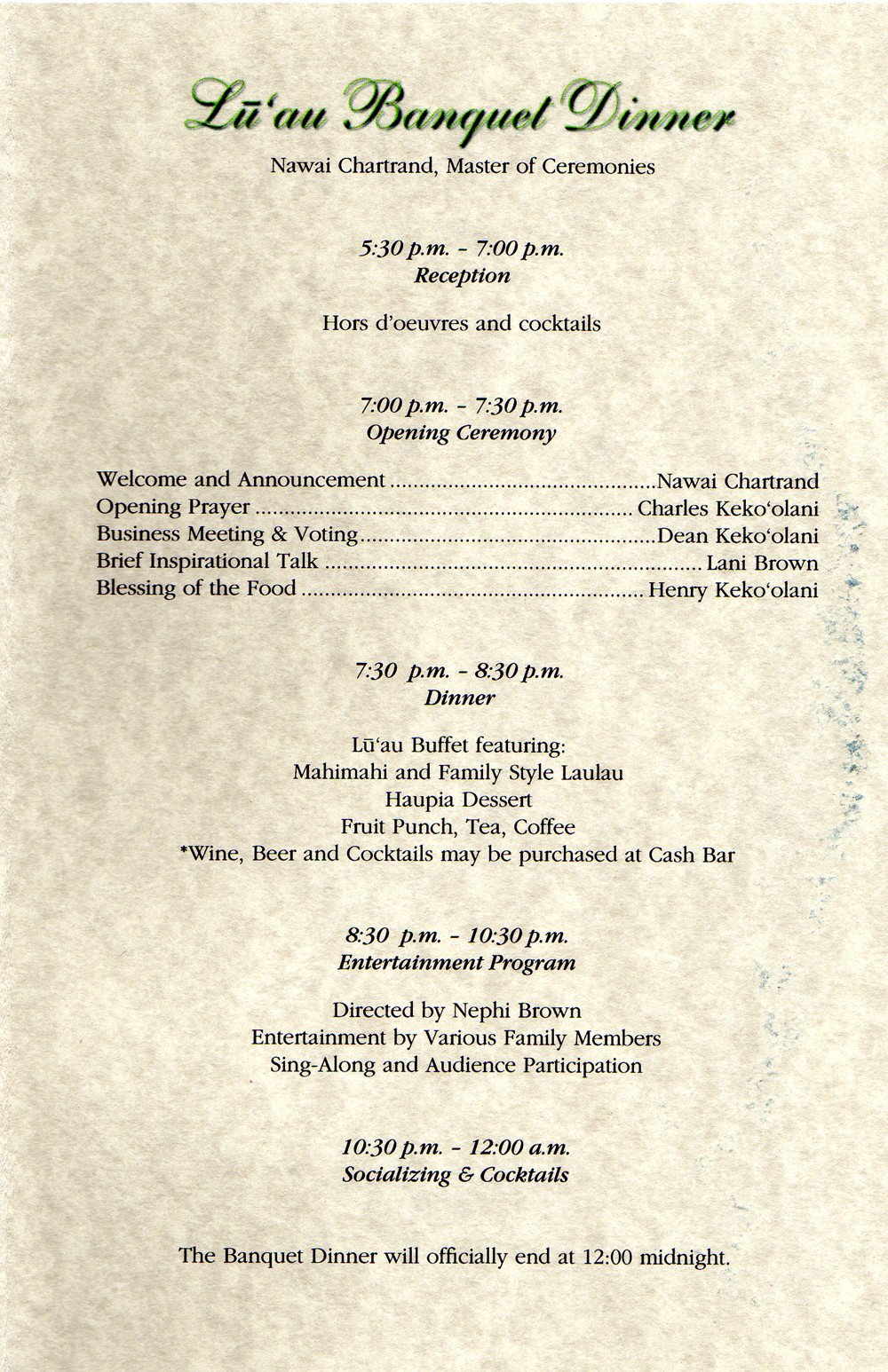 Family Reunion Banquet Program Sample 27 Of Template Family Reunion Banquet